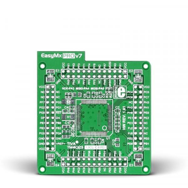 EasyMx PRO v7 for Tiva Empty MCU card for 100-pin TQFP TM4C123 series