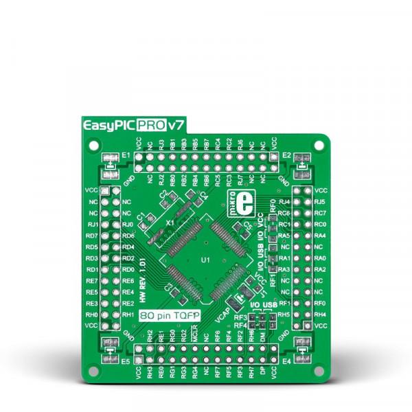 EasyPIC PRO v7 Empty MCUcard 80pin TQFP