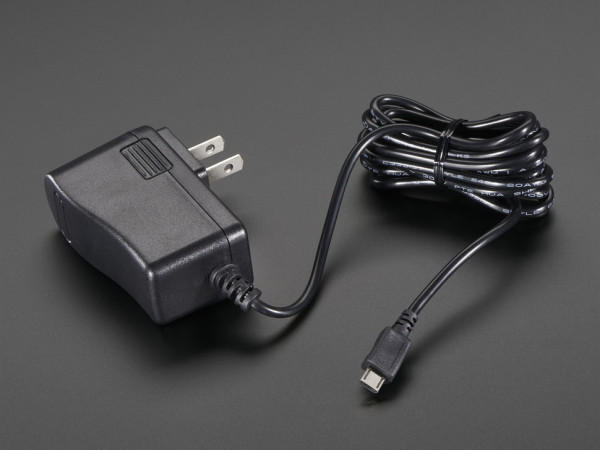 5V 2.4A Switching Power Supply w- 20AWG 6' MicroUSB Cable