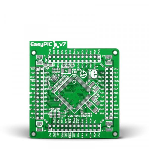 EasyPIC Fusion v7 Empty MCUcard ETH 100pin TQFP PT