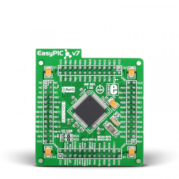 EasyPIC FUSION v7 MCUcard with dsPIC33EP512MU810