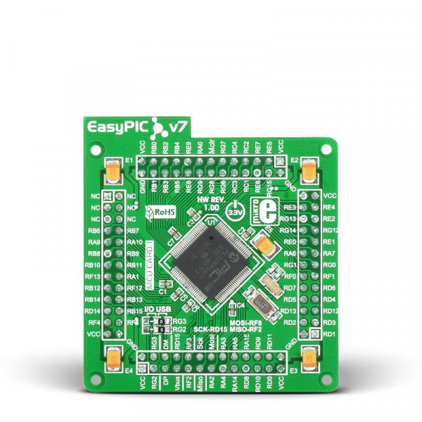 EasyPIC FUSION v7 MCUcard with PIC32MX460F512L