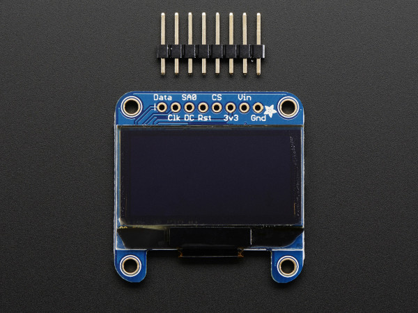 "Monochrome 1.3"" 128x64 OLED graphic display"