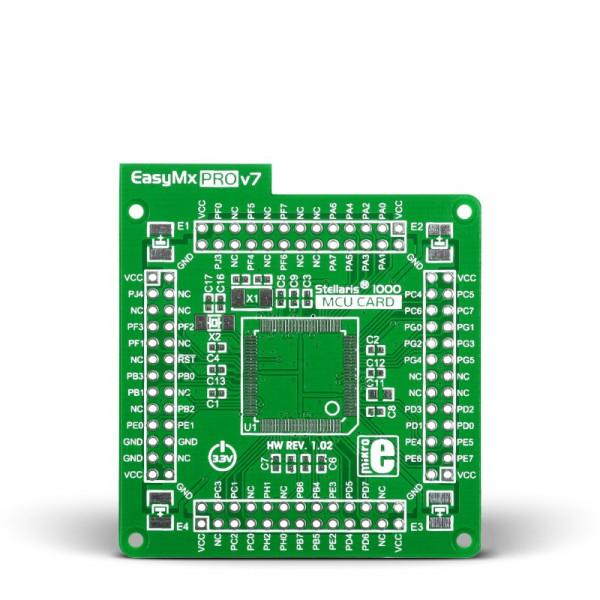 Standard empty MCU card for 100-pin TQFP Stellaris 1000 series