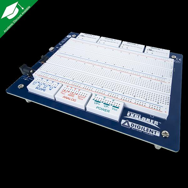 Electronics Explorer: All-in-one USB Oscilloscope, Multimeter & Workstation
