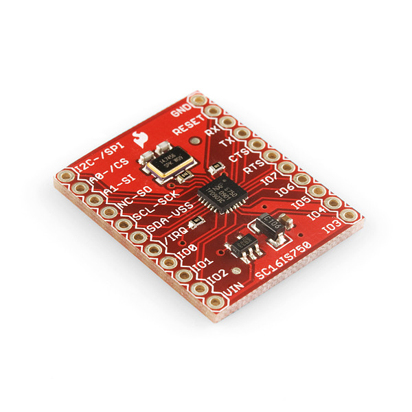 Sparkfun Breakout Board for SC16IS750 I2C/SPI-to-UART IC