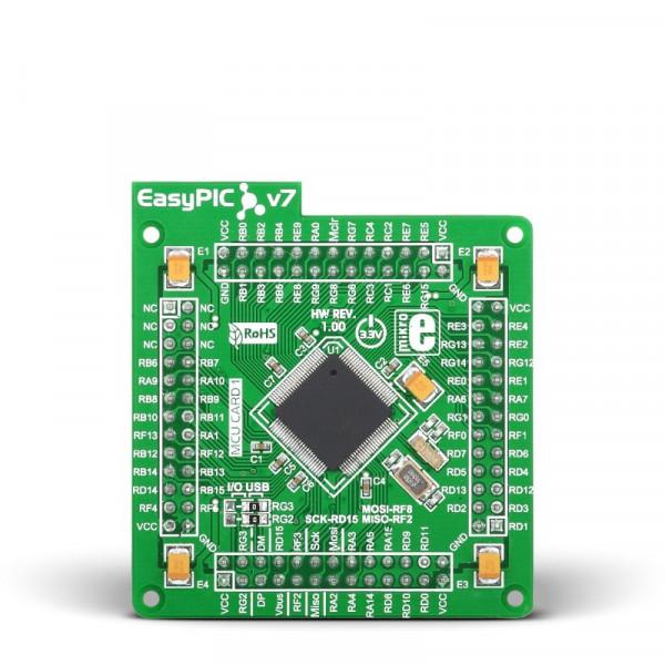 EasyPIC FUSION v7 MCUcard with PIC24FJ128GA310