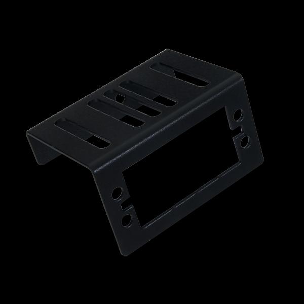 Servo Mounting Bracket (Pair): Black Brushed Metal
