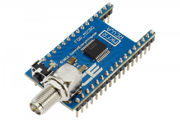 Key Fob Receiver Overlay Shield for Arduino Micro