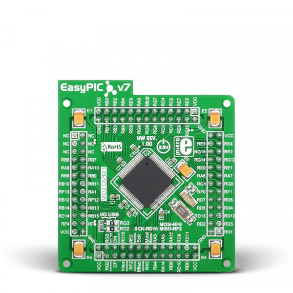 EasyPIC FUSION v7 MCUcard with PIC24EP512GU810