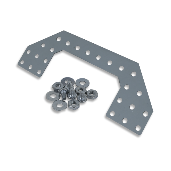 Angled Plate Expansion Kit: Punched Metal Expansion Plate for Digilent Robot Kits