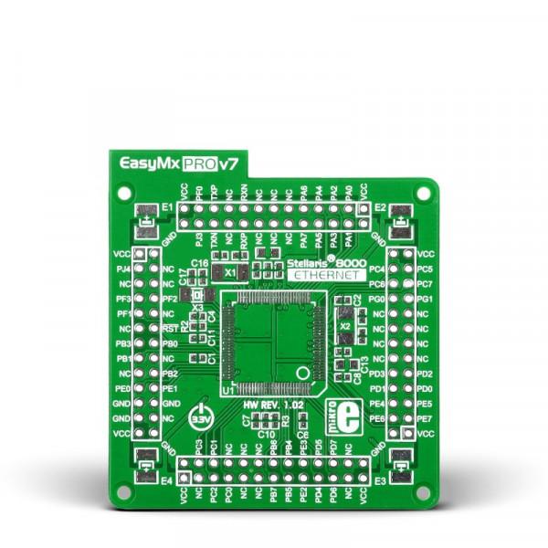 Ethernet empty MCU card for 100-pin TQFP Stellaris 8000 series