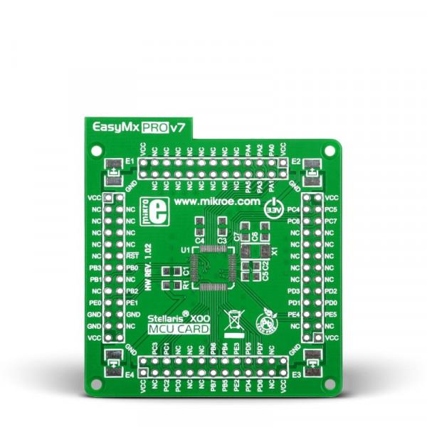 EasyMx PRO v7 for Stellaris - Standard empty MCU card for 48-pin TQFP x00 series