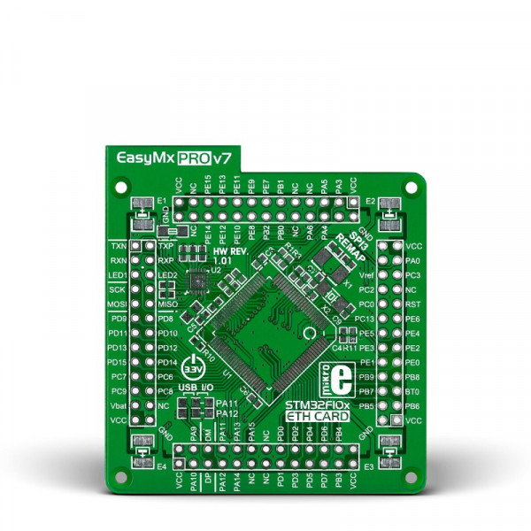 EasyMx PRO v7 for STM32 Empty MCUcard ETH 100pin TQFP