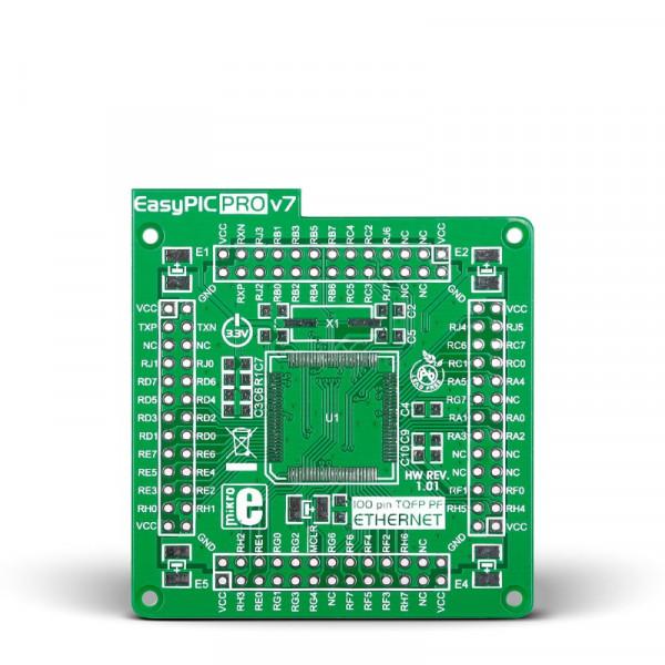 EasyPIC PRO v7 Empty MCUcard ETH 100pin PF TQFP