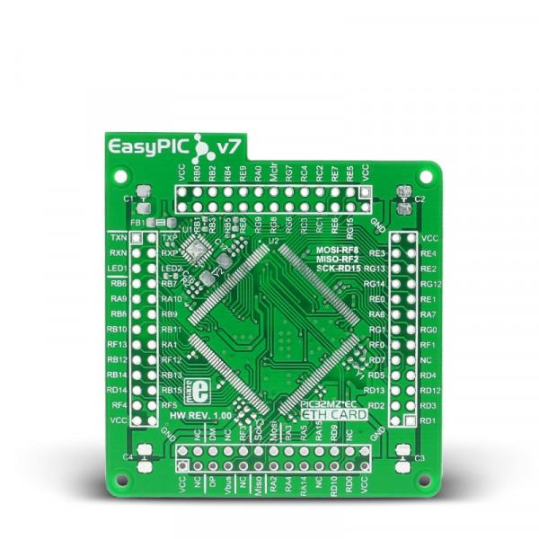 EasyPIC Fusion v7 Empty MCUcard ETH 144pin LQFP PL