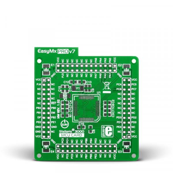 Standard empty MCU card for 64-pin TQFP Stellaris 3000 series